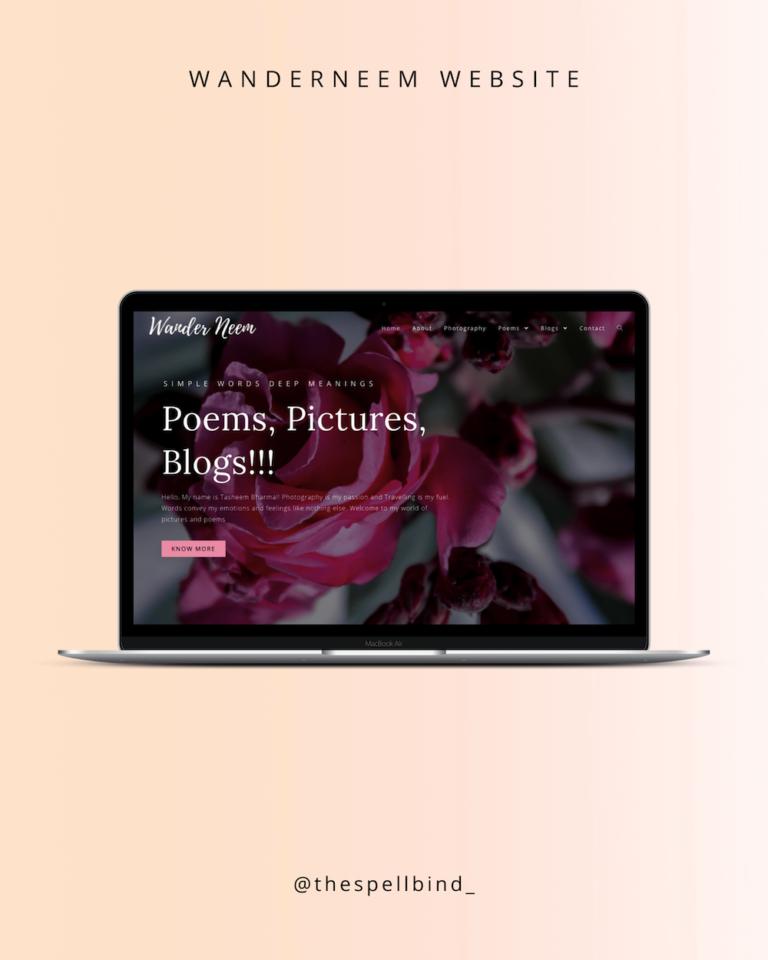 WanderNeem Website Design & Branding