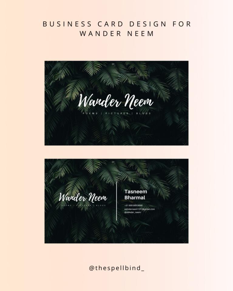 Wander Neem - Website Design & Branding 2