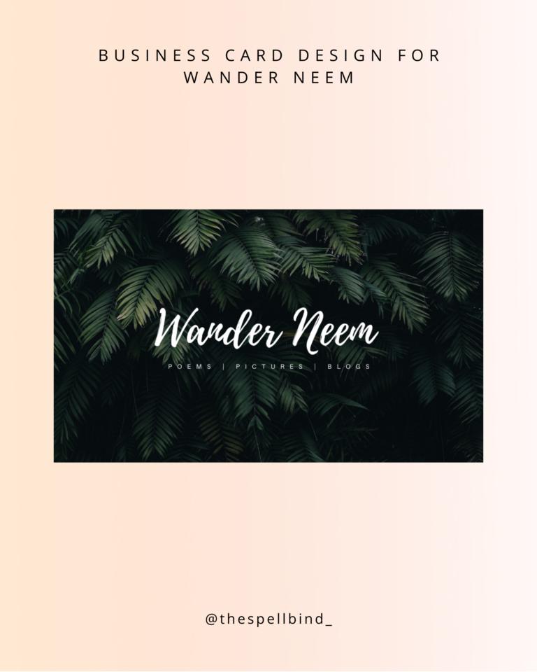 Wander Neem - Website Design & Branding 1