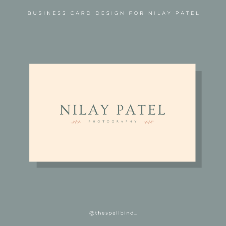 Nilay Patel Photography - Branding 1