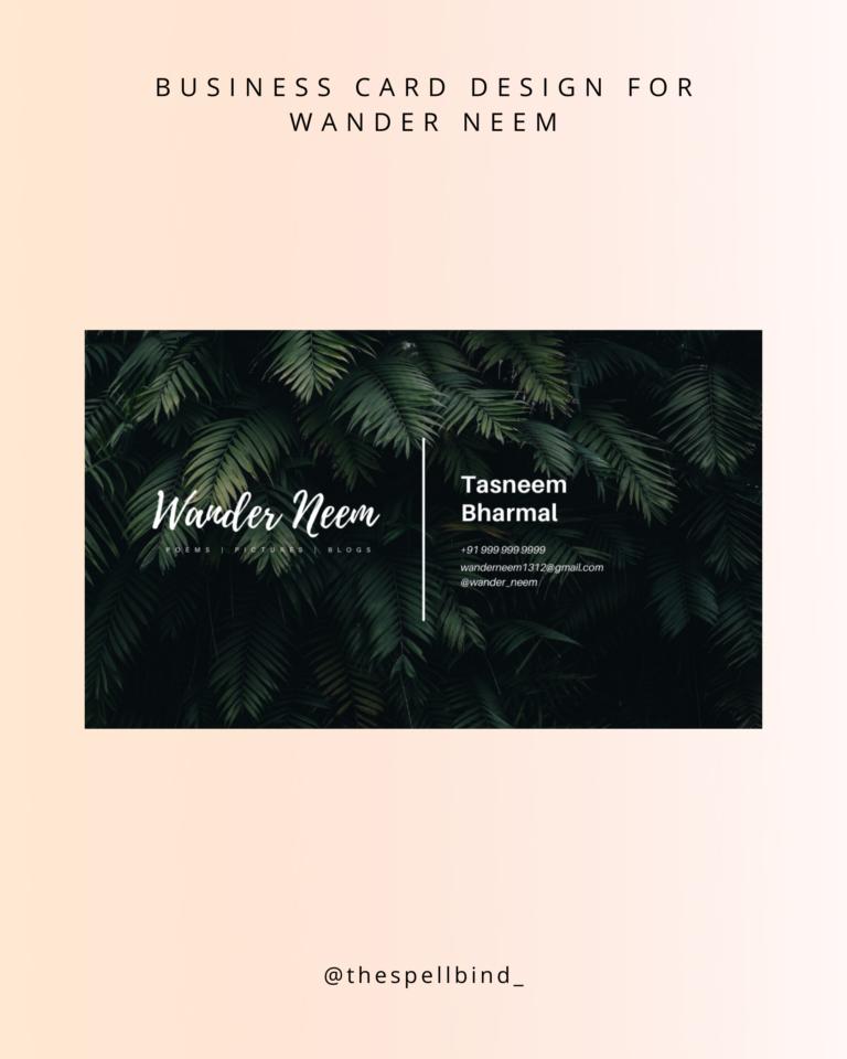 Wander Neem - Website Design & Branding 3