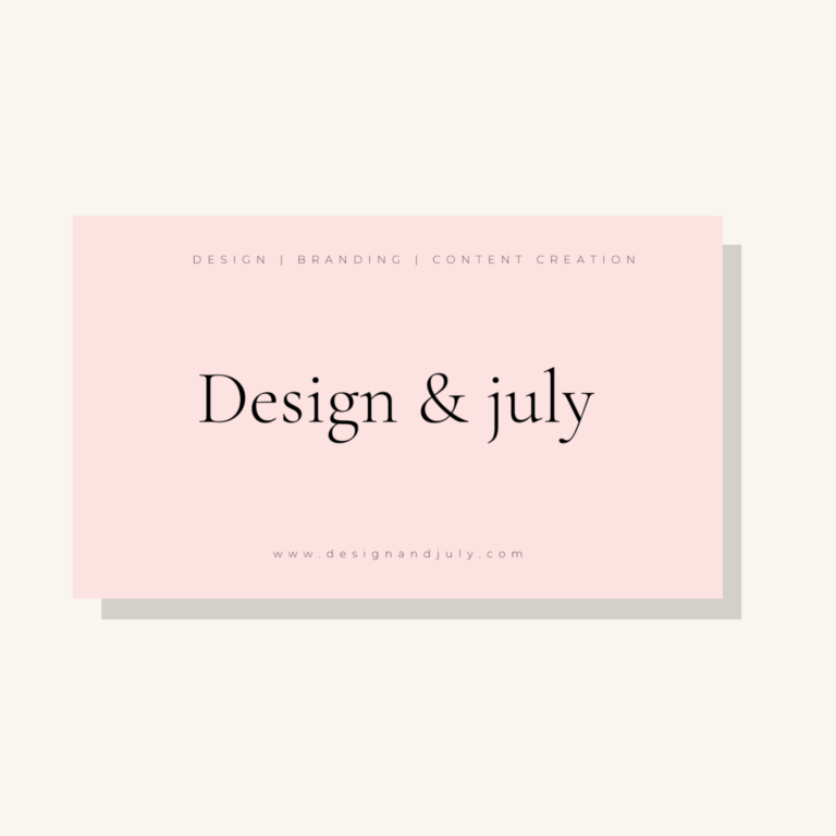 Design & July - Website Design & Branding 1