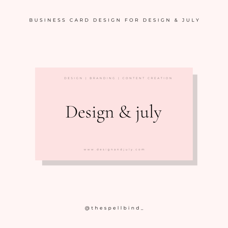 Design & July - Website Design & Branding 1