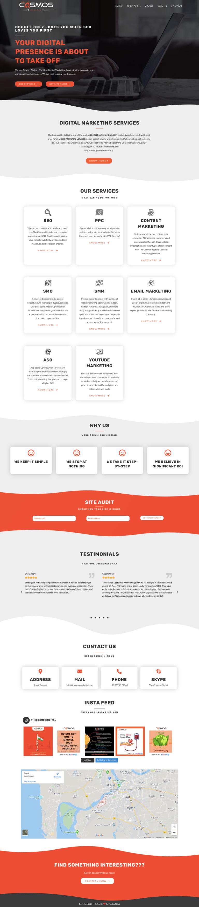 Cosmos Digital  - Website Design & Branding 3