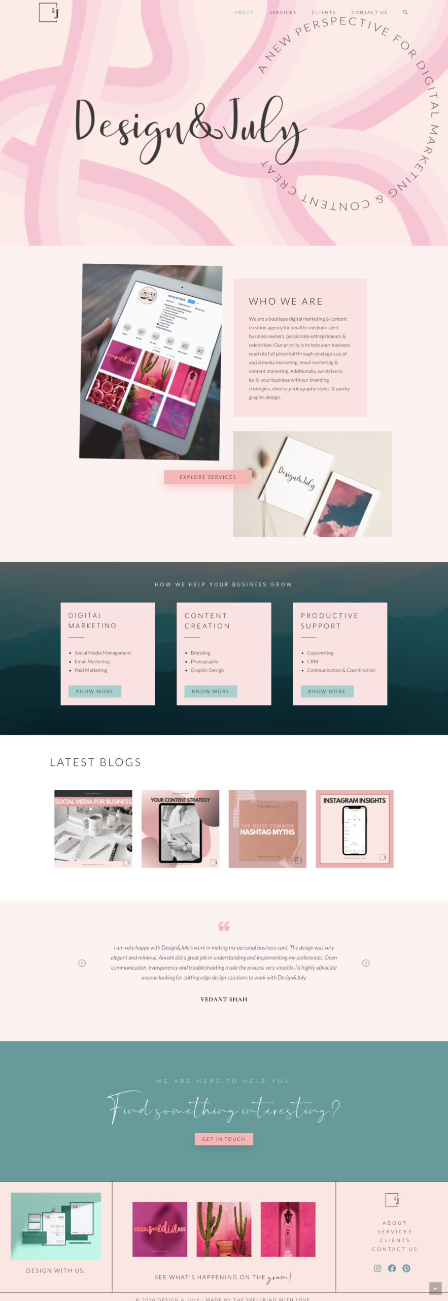 Design & July - Website Design & Branding 3